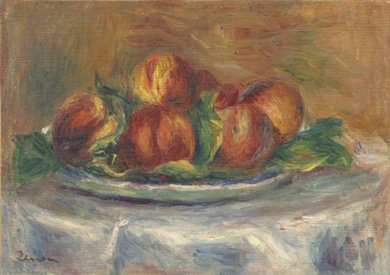 Renoir, Pierre Auguste: Peaches on a Plate. Fine Art Print/Poster. Sizes: A4/A3/A2/A1 (003948)